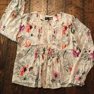 Anthropologie Geisha Designs blouse, size M, NWT!